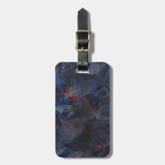 Black and White on Blue and Red Background Luggage Tag