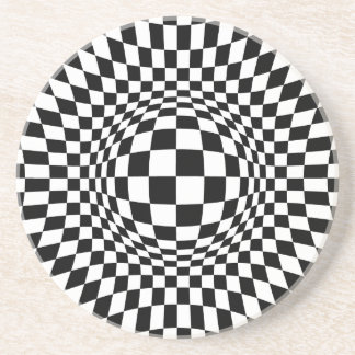 Black and White Op Art Drink Coasters
