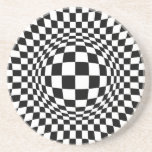 Black and White Op Art Coasters