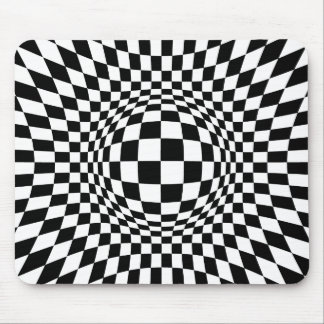 Black and White Op Art Mouse Pad