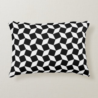 Black anD White Op Art Pattern Accent Pillow