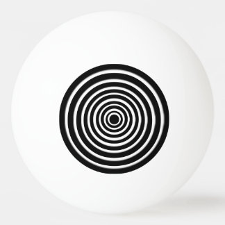 Black and White Op Art Ping Pong Ball