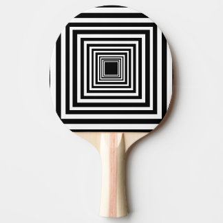 Black and White Op Art Ping Pong Paddle