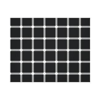 Black and White Optical Illusion Canvas Print