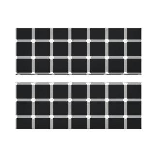 Black and White Optical Illusion Canvas Prints