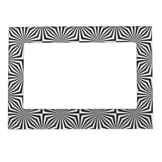 Black and white optical illusion magnetic frame
