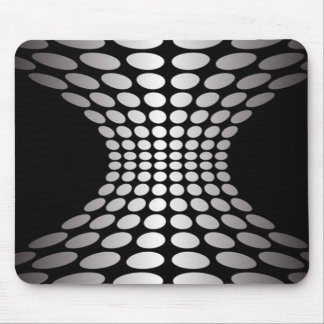 Black and White Optical Illusion Mouse Pad