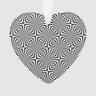 Black and white optical illusion ornament