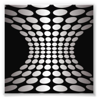 Black and White Optical Illusion Photo Print