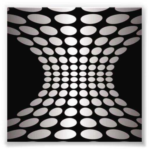 Black and White Optical Illusion Photo