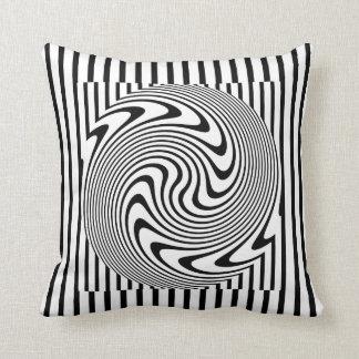 Black and White Optical Illusion Throw Pillow. Throw Pillow