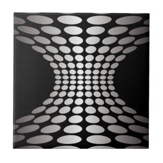 Black and White Optical Illusion Tile