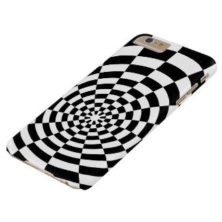Black And White Optical Pattern Barely There iPhone 6 Plus Case