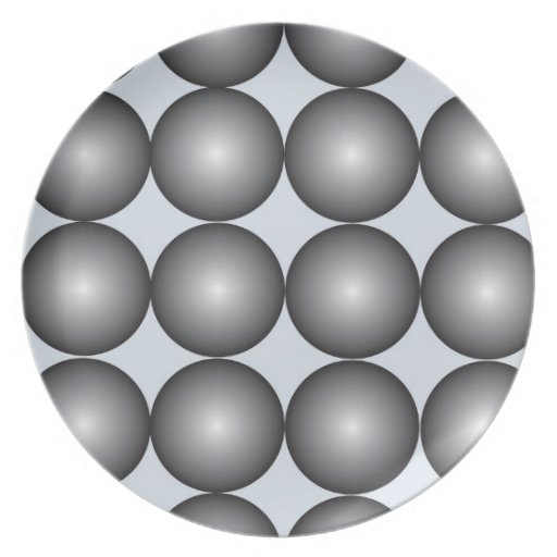 Black and White Orbs Plate