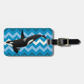 Black and White Orca Killer Whale Bag Tags