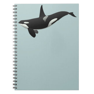 Black and White Orca Killer Whale Notebook