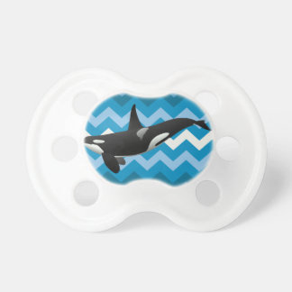 Black and White Orca Killer Whale Pacifier