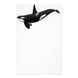 Black and White Orca Killer Whale Stationery