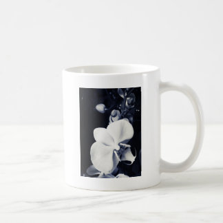 Black and white orchid coffee mug