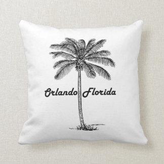 Black and White Orlando & Palm design Throw Pillow
