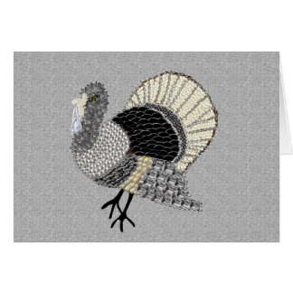 Black and White Ornate Thanksgiving Turkey Card