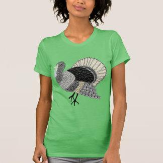 Black and White Ornate Thanksgiving Turkey T-Shirt