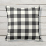 "Black and White Outdoor Pillows - Gingham Pattern<br><div class=""desc"">Black and White gingham pillows for outdoors. Made in the USA. High quality twill pattern print in vibrant colors. UV and mildew resistant garden or patio pillows with a gingham or buffalo check pattern. Available in 16 or 20 inch square and 13 by 21 rectangular sizes. Insert included. (Also available...</div>"