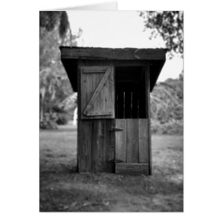 Black and White Outhouse Card