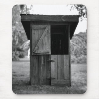 Black and White Outhouse Mouse Pad