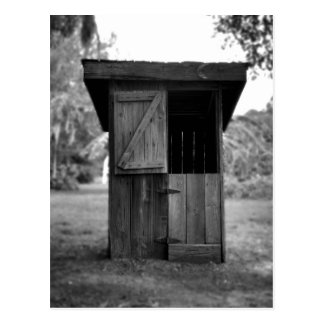 Black and White Outhouse Postcard