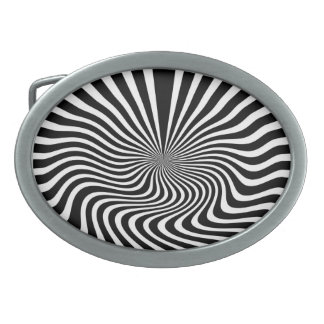 Black and White Oval Belt Buckle