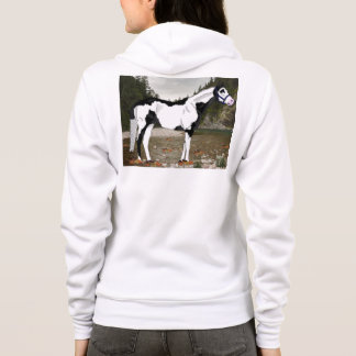 Black and White Overo Paint Horse Hoodie