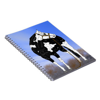 Black and White Overo Paint Horse Notebook