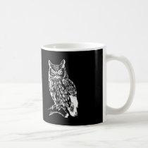 Black and White Owl Design Coffee Mug