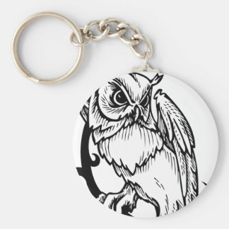 Black and white owl design keychains