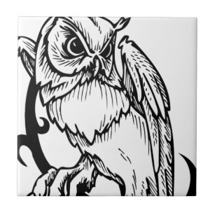Black And White Owl Design Gifts On Zazzle