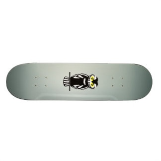 Black and White Owl in the Night Skateboard Deck