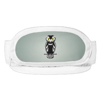 Black and White Owl in the Night Visor