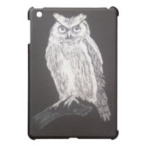 Black and white owl iPad mini cover