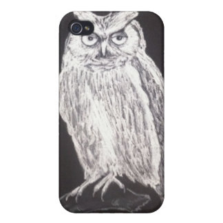 Black and white owl iphone case cover for iPhone 4