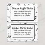 """Black and White Owl Themed baby shower games<br><div class=""""desc"""">Black and White Owl Themed baby shower games Raffle Ticket</div>"""