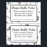 """Black and White Owl Themed baby shower games Flyer<br><div class=""""desc"""">Black and White Owl Themed baby shower games Raffle Ticket</div>"""