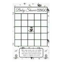 Black and White Owl Themed baby shower games Flyer