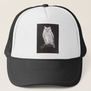 ee837ded Black And White Owl Hats & Caps   Zazzle