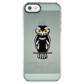 Black and White Owl with Bright Eyes Clear iPhone SE/5/5s Case