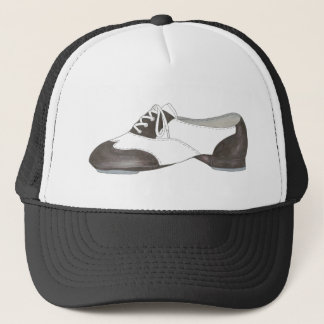 Black and White Oxford Tap Shoe Dance Teacher Gift Trucker Hat