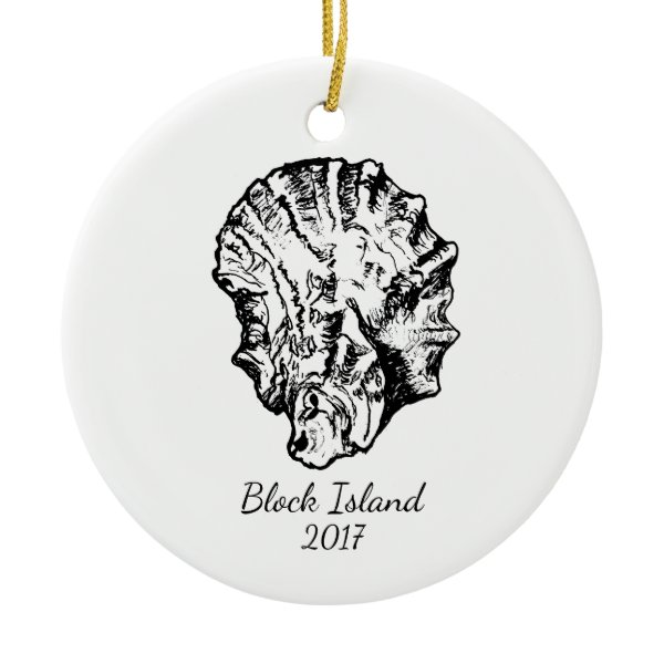 Black and White Oyster Ornament