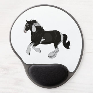 Black and White Paint Pinto Gypsy Vanner Horse Gel Mousepads