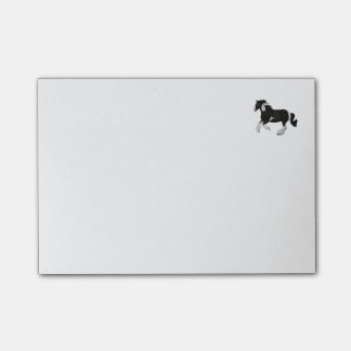 Black and White Paint Pinto Gypsy Vanner Horse Post-it® Notes