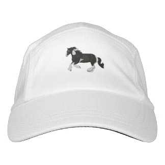Black and White Paint Pinto Gypsy Vanner Horse Headsweats Hat